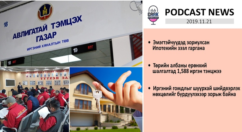 Podcast news - Цаг үе (2019.11.21)